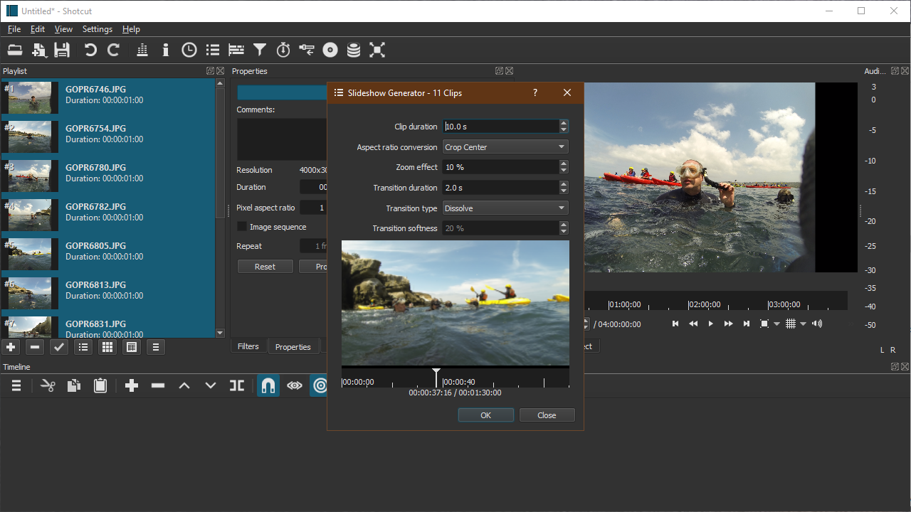 Screenshot of Slideshow Generator